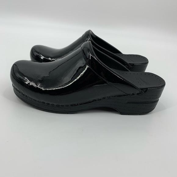 Dansko Nwot Sonja Black Patent Leather